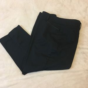 Set of 2 black cropped work pants, New York & Co
